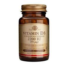Solgar Vitamin D3 2200 IU (55ug) Vegetable Capsules 50
