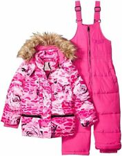 NWT DIESEL Sz3Y TODDLER 2 PIECE SNOWSUIT SKY SET JACKET/OVERALL PINK ROSE