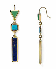 "Lauren Ralph Lauren Goldtone ""Under The Sea"" Multi Stone Drop Earrings"