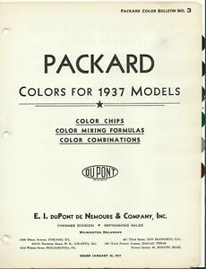 1937 PACKARD PAINT CHIPS (DUPONT)