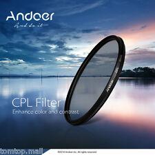 Andoer 58mm Digital Slim CPL Circular Polarizer Glass Filter for Canon NEW PV0L