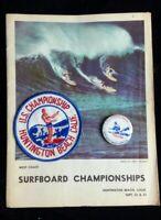Vintage US 1962 West Coast Surfboard Championships Magazine Patch Button