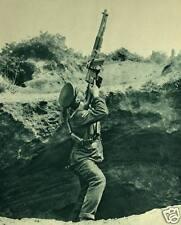 "British Army Cavalry Trooper Firing Hotchkis World War 1, 5x4"" Reprint  Photo a"