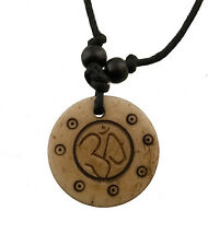 Collier tibetain pendentif bouddhiste-om et mantra-GAR4-2744