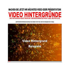 Hintergründe (Video + Audio) für Ihre Präsentationen und Videos - PLR-/Reseller