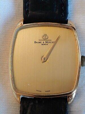 Baume Mercier 18K gold dress formal watch manual wind Model 37060