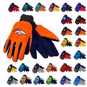 NFL Team Utility/work Gloves- Offically Licensed