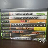 Lot Of 9 Original XBOX DVD Games — Dead Man's Hand, NASCAR, Prince Of Persia