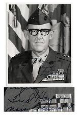 WWII General Fred Haynes Signed Photo Iwo Jima Marines