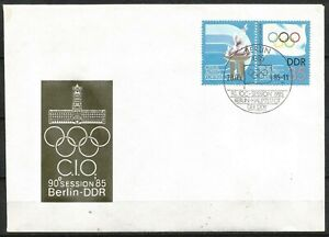 Germany (East) DDR GDR 1985 FDC 90th Int Olympic Committee Meeting IOC
