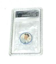 1962 Salada Coin #41 New York Yankees Mickey Mantle Graded GAI 6 Tea Junket
