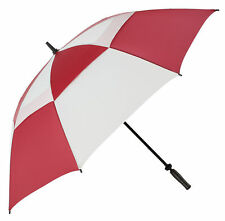 Golf Umbrella - Vented Canopy - Fibreglass Frame - Wind & Storm Proof - Burgundy