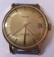 Armbanduhr Ankra Herrenuhr 17 Rubis Antichoc goldplated vergoldet
