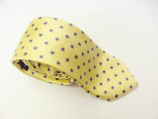 Tie Rack Linea Studio Yellow Floral Design Slim Silk Mens Tie