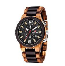 Orologio Cronografo in vero legno + scatola e OMAGGIO - NUOVO Wood Chrono Watch