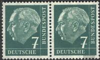 BRD (BR.Deutschland) 181x waagerechtes Paar postfrisch 1954 Heuss