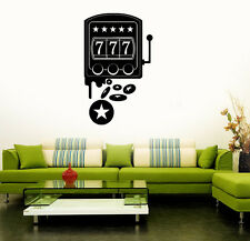 Wall Stickers Vinyl Decal Slot Machine Casino Gambling Luck (ig1534)