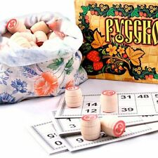 Russian Bingo / Lotto Board Game Russkoe Loto. Brand New in the Box!!!!!