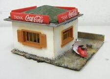 Vintage 1960s HO RAILROAD DECO FALLER TRINK COCA COLA COKE SNACK SHACK w SCOOTER