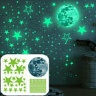 Glow In The Dark Luminous Stars and Moon Wall Stickers Ceiling Wall Bedroom Deco