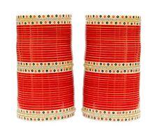 BC-85 Indian Bridal Red CZ Choora/Chura Bangle Set Bridal Wedding Wear Jewelry
