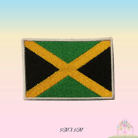 Jamaica National Flag Embroidered Iron On Patch Sew On Badge Applique