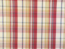 Woven taffeta plaid drapery/upholstery decorator material in multi colors