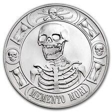 1 OZ SILVER COIN MEMENTO MORI SKULL LAST LAUGH DEBT AND DEATH ANONYMOUS MINT