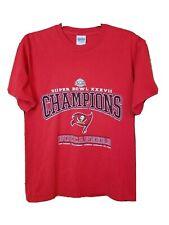 Tampa Bay Buccaneers Vintage 2003 Red Super Bowl 37 XXVII Champion Tshirt