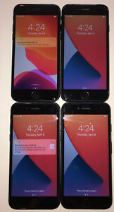 FOUR TESTED GSM UNLOCKED BLACK AT&T APPLE iPhone 7, 32GB A1778 PHONES R210P