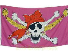 Fahne Flagge Piratenprinzessin Pirat Pink  1,5 Meter x 0,9 Meter mit Oesen  NEU
