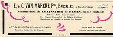 VAN MARCKE MANUFACTURE CHAUSSURE DAMES BRUXELLES PUBLICITE PUB 1929 FRENCH AD