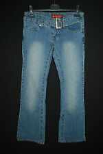 NEU - DIFFUSE irre + sexy Jeans ENG! Boot- Cut sehr niedrige Leibhöhe XS S 36 38