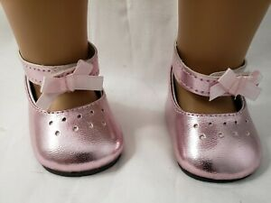 """DOLL SHOES -  PINK  PATENT DRESS  -  fits  AMERICAN GIRL DOLL AND MOST 18"""" DOLLS"""