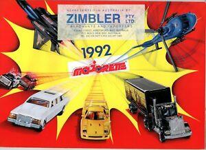 Majorette Diecast Model & Toy Dealers Shop Catalogue 1992 - very good condition