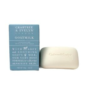 Crabtree & Evelyn GOATMILK Comforting Triple Milled Soap 3.5 oz New in Box