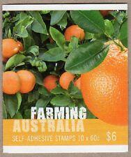 2012 AUSTRALIAN STAMP BOOKLET FARMING AUSTRALIA (1 KOALA) 10 x 60c STAMPS MUH