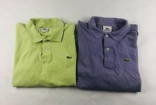 Lot Of 2 Lacoste Polo Shirts Light Green Purple S/S Mens Size 5 Medium