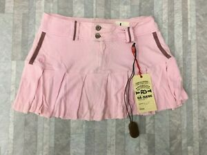 NEW Da-Nang Surplus Women's Casual Skirt Flare Silk Zipper PINK PSG247 SMALL S
