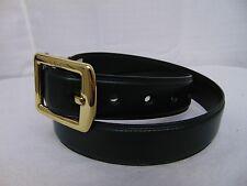 LAUREN Ralph Lauren Leather Belt Juniper Green, Gold Tone Buckle Medium #2856