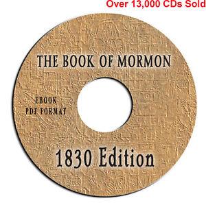 RARE 1830 ORIG EDITION Book of Mormon-Joseph Smith-Apologetics-Bible Truth-on CD