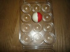 1 Used Ping Red & White Golf Ball with Pebble Beach Logo in Good Cobdition!