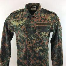 German Army Issue Flecktarn Camo Jacket Sleeve Flag Sz Medium / M Mens