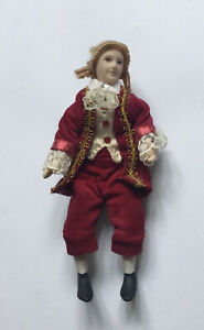 Dolls House Man In Red - 15.5 cm