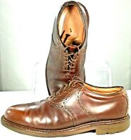 Johnston Murphy Passport Oxford Mens Sz 11M Brown Leather Plain Toe Lace Up Shoe
