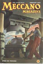 1949 FEBRUARY 33596  Meccano Magazine Cover Picture  OPEN DIE FORGING