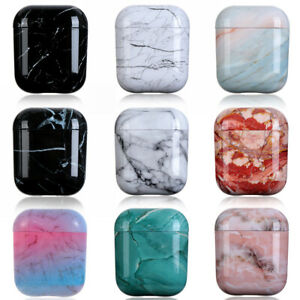 Hard PC Protective Case Cover Marble Stone Bag Shell For Apple AirPods 1 2