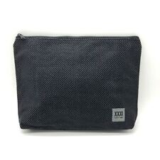 Thirty one zipper pouch organizer cosmetic bag make up Black Textured Twill 31