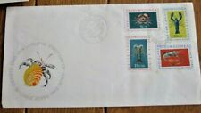 crab & lobster 1962 netherlands new guinea hollandIa set fdc