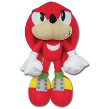 OFFICIAL SONIC KNUCKLES PLUSH SOFT TOY - Red Hedgehog Retro SEGA 10""
